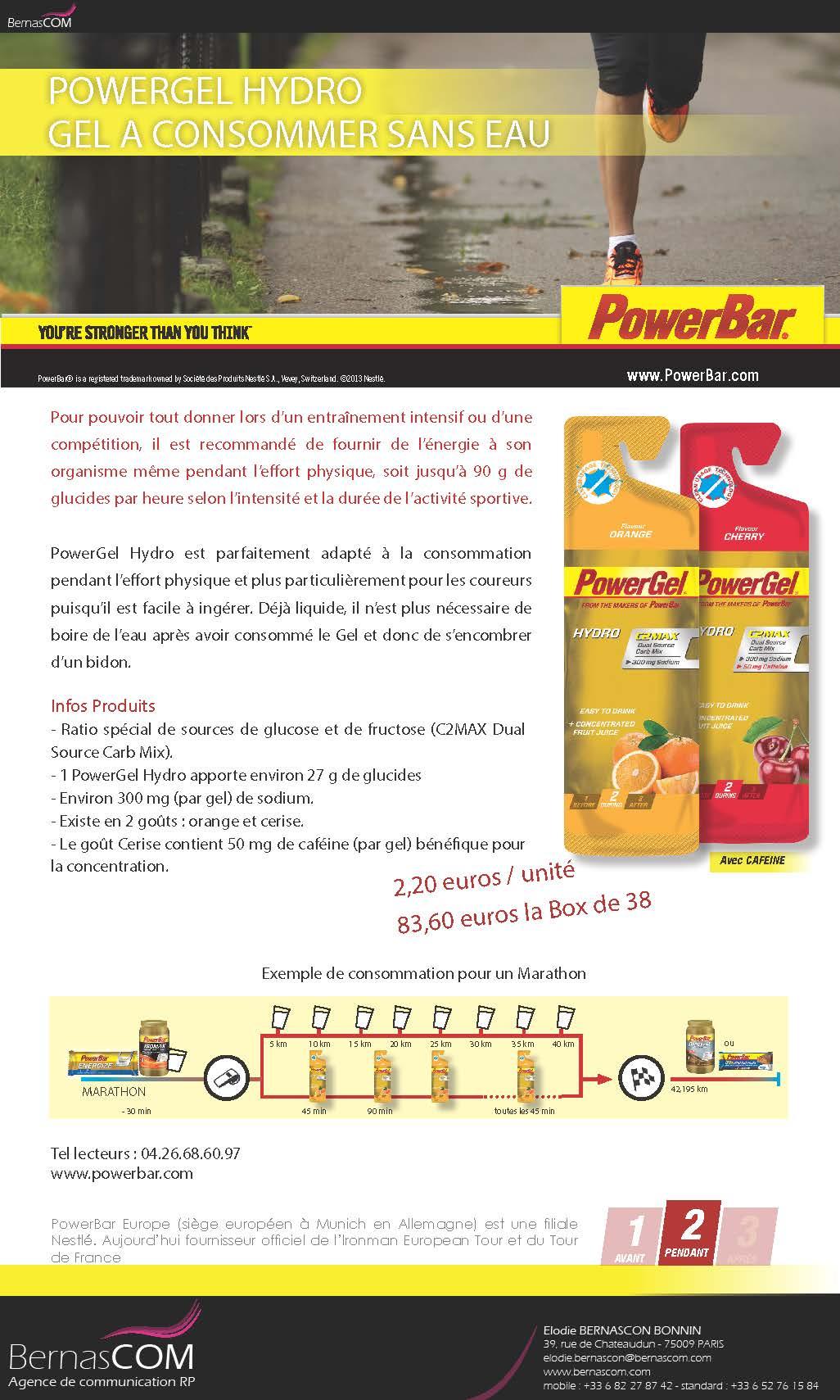 PowerBar - PowerGel Hydro - Mars 13