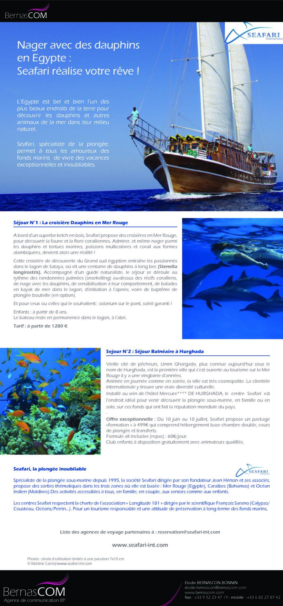 Seafari - croisiere Egypte