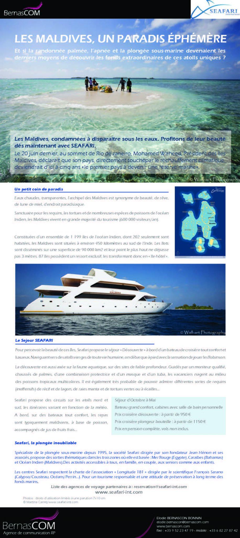 Seafari - croisiere Maldives2