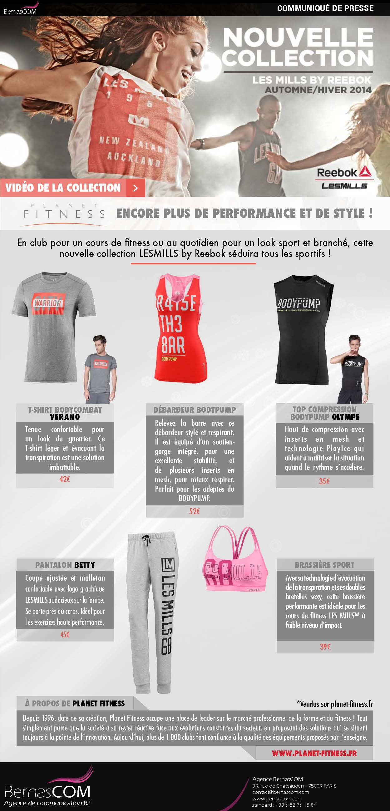 81dce065a910c Sport et Mode   la nouvelle collection LESMILLS Reebok chez Planet ...