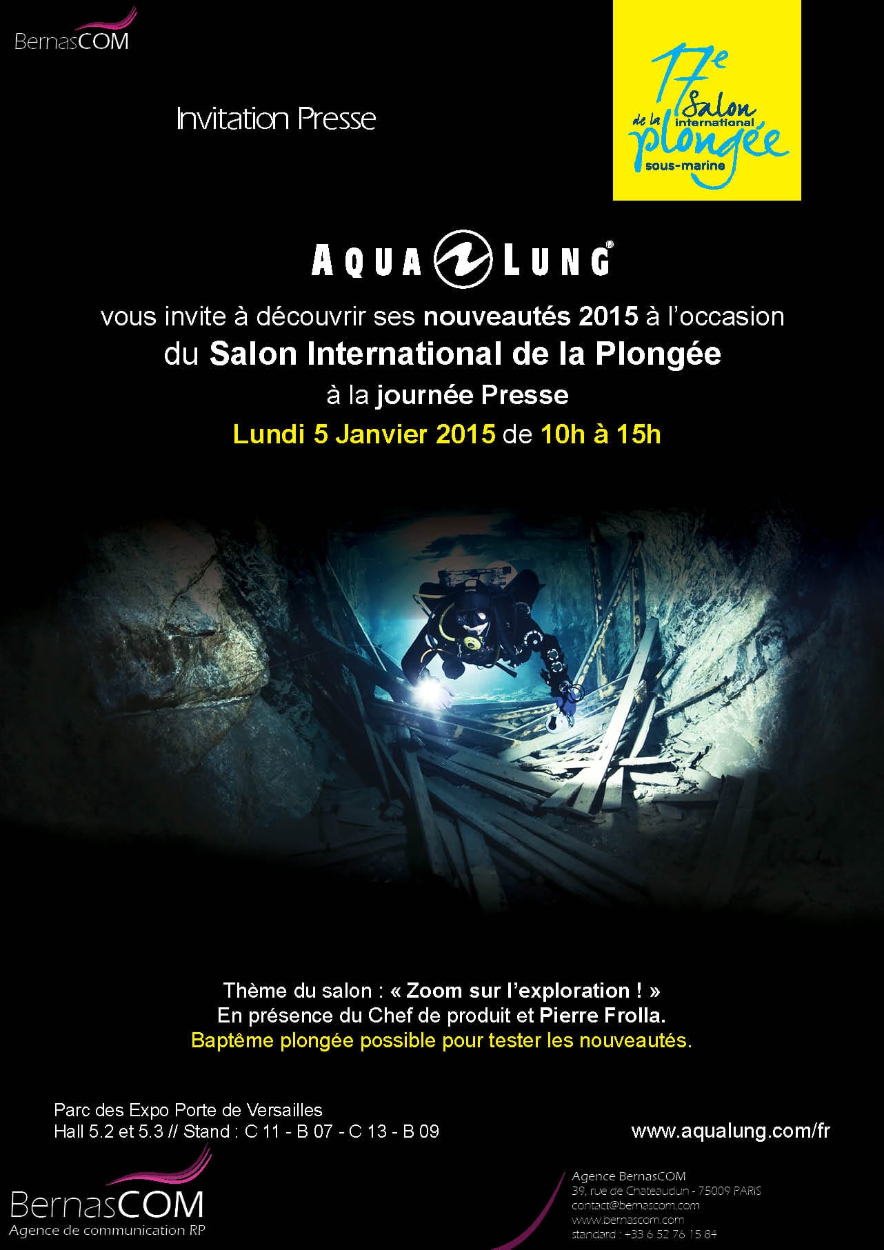 Aqua Lung-Invitation Salon Plongee 2015