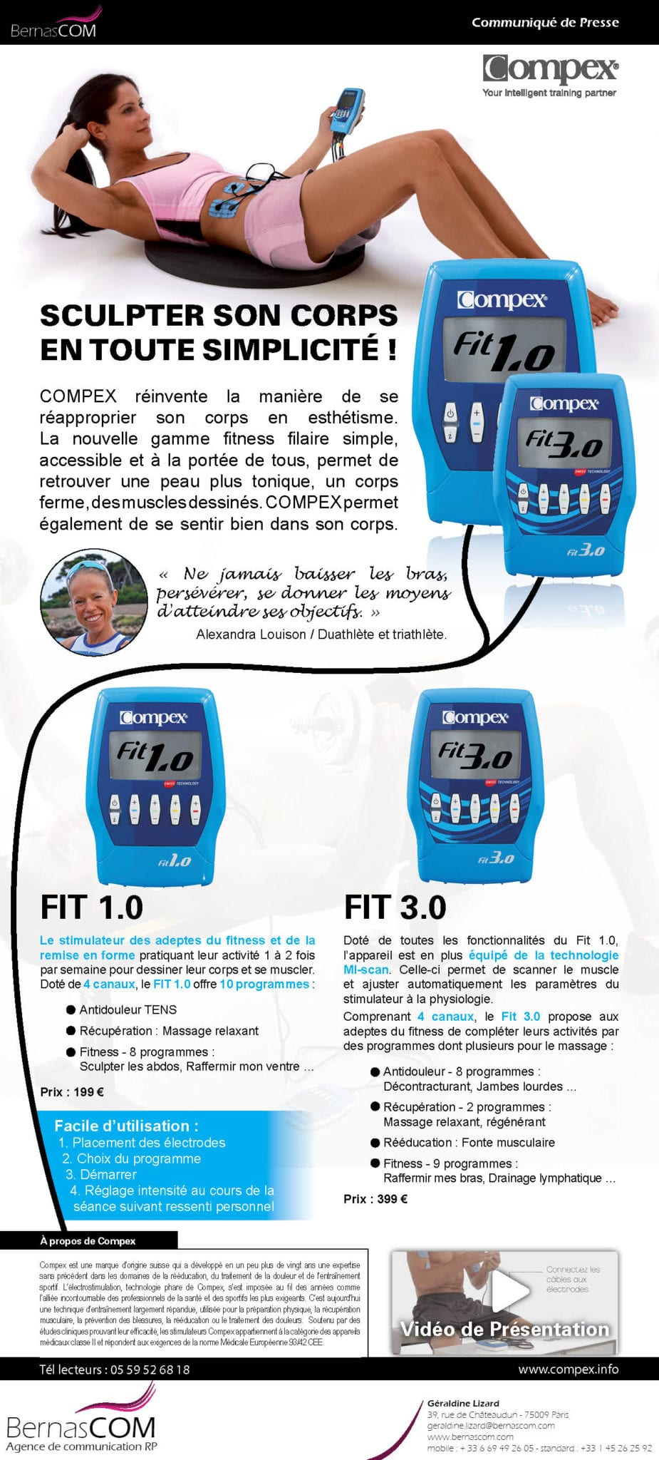 Compex Fitness Filaire