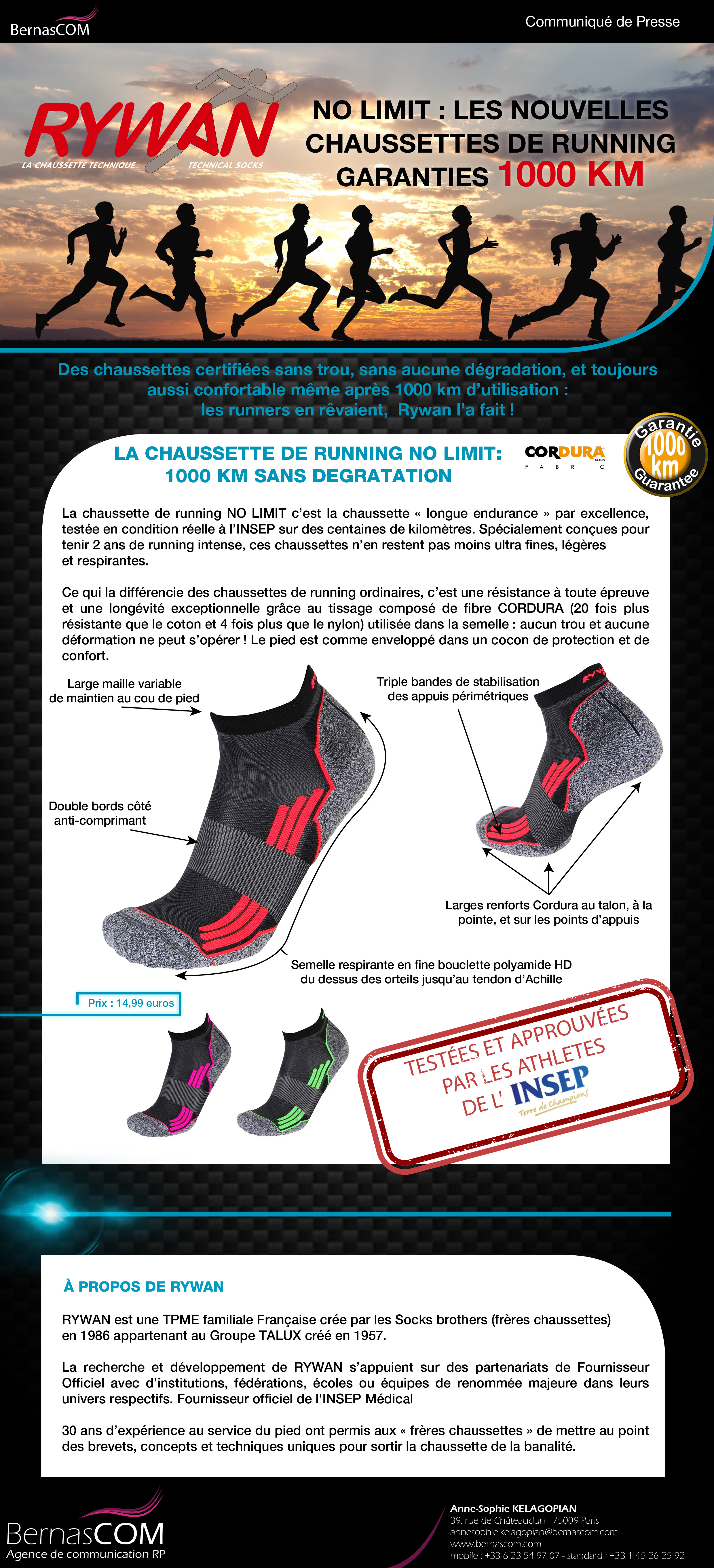 RYWAN-CP-Chaussettes de running NO LIMIT