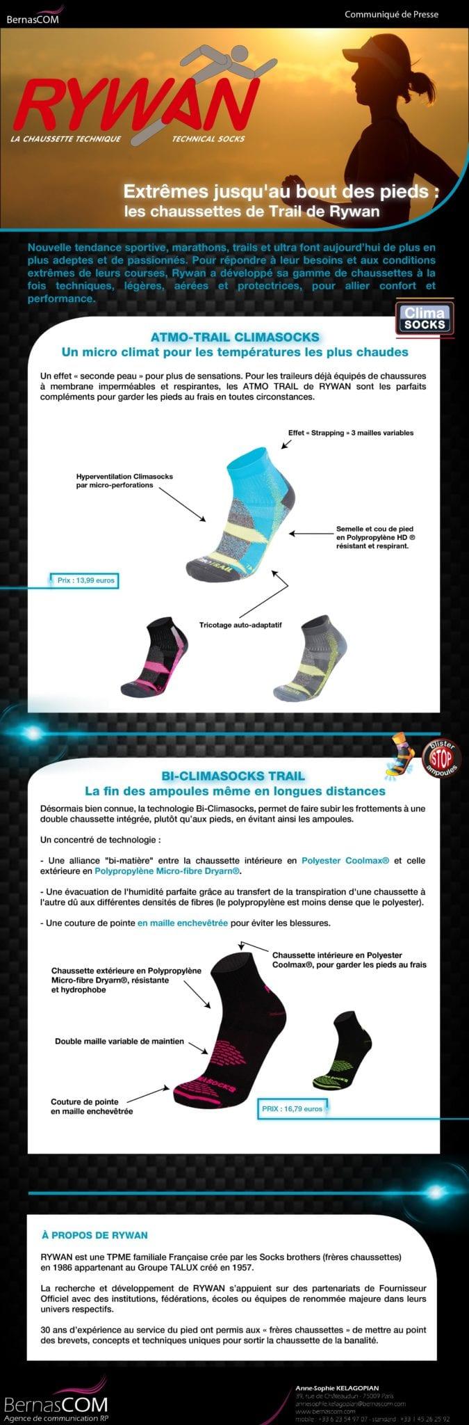 RYWAN - CP - chaussettes de Trail