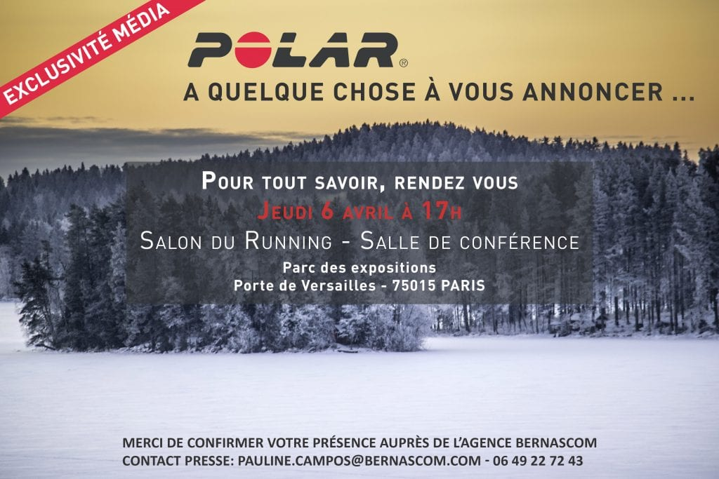 Polar invitation au salon du running