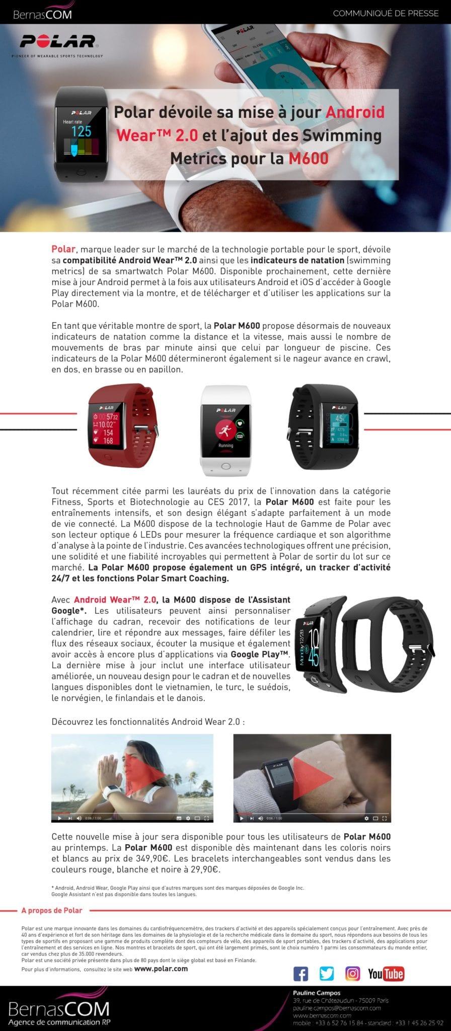 Polar M600 AndroidWear2