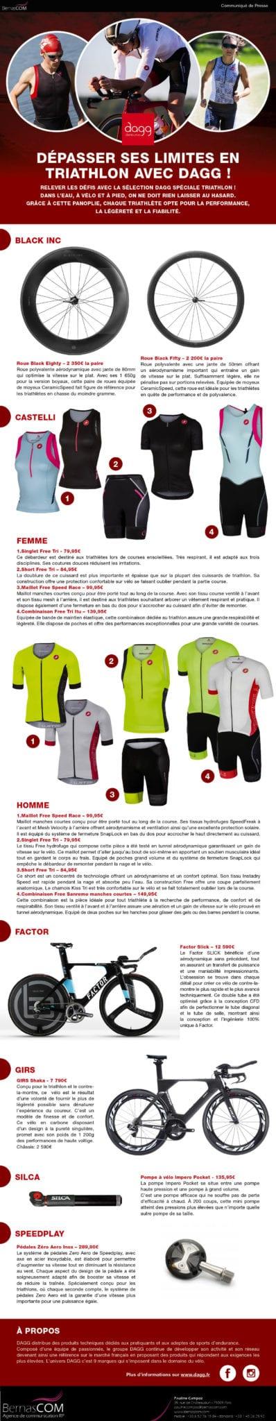 Dagg Communiqué de presse Triathlon