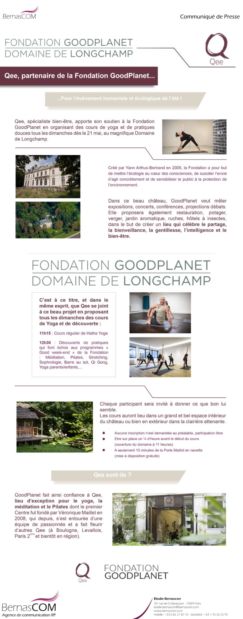 Communiqué de presse Qee GoodPlanet