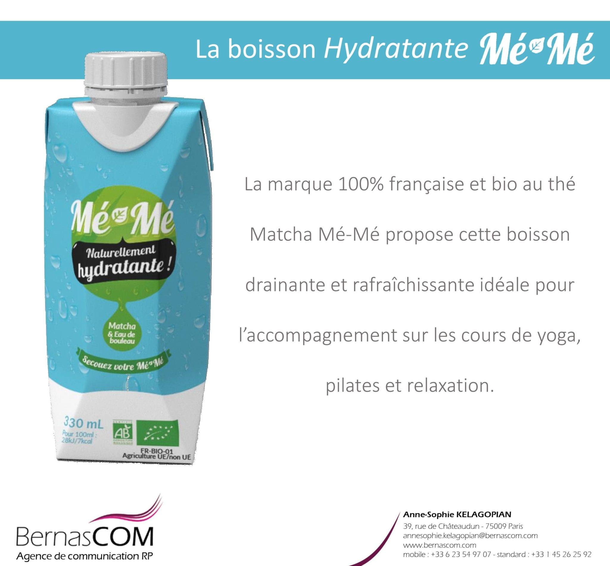 News Boissons MéMé hydrtante yoga